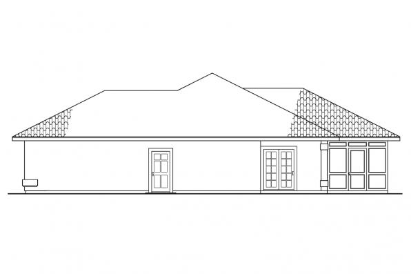 Southwest House Plan - Bryant 11-024 - Left Elevation