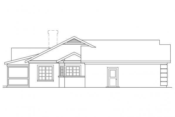 Southwest House Plan - Catalina 11-002 - Right Elevation