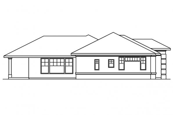 Southwest House Plan - Chatsworth 30-227 - Right Elevation