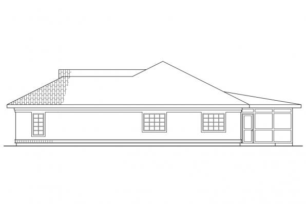 Southwest House Plan - Cypress 11-001 - Left Elevation