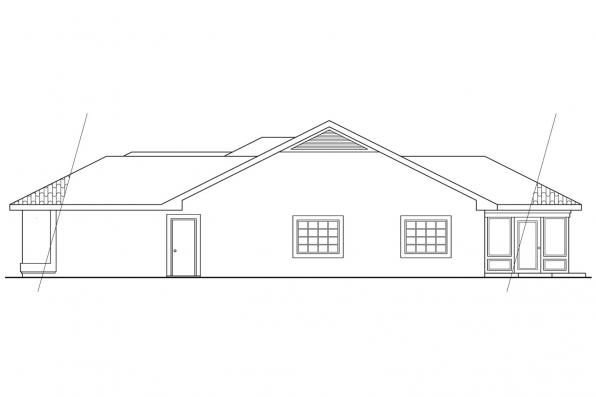 Southwest House Plan - Daytona 11-034 - Left Elevation