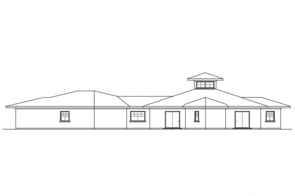 Southwest House Plan - Flora Vista 10-546 - Left Elevation