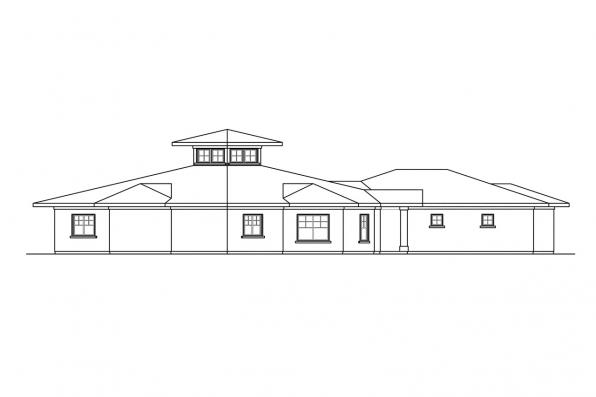 Southwest House Plan - Flora Vista 10-546 - Right Elevation