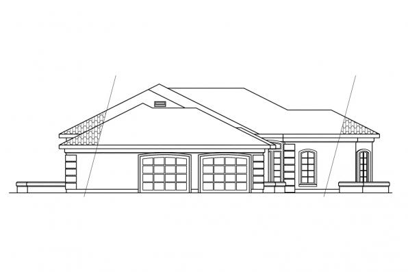 Southwest House Plan - Glenridge 10-053 - Right Elevation