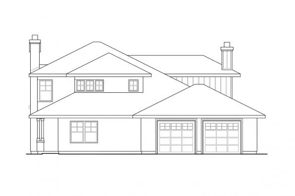 Southwest House Plan - Hazleton 30-304 - Left Elevation
