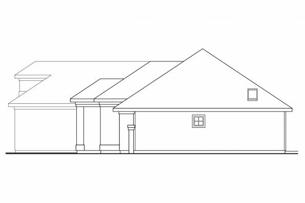 Southwest House Plan - Lindgren 11-122 - Left Elevation