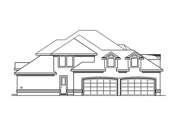 Southwest House Plan - Lucardo 30-181 - Right Elevation