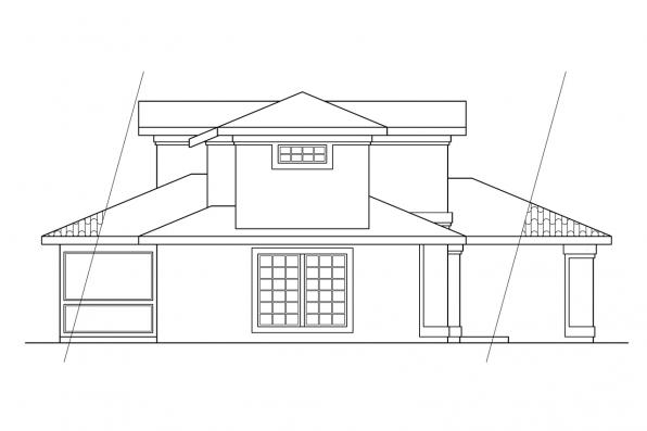 Southwest House Plan - Malibu 11-054 - Right Elevation