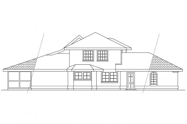 Southwest House Plan - Merida 11-009 - Right Elevation