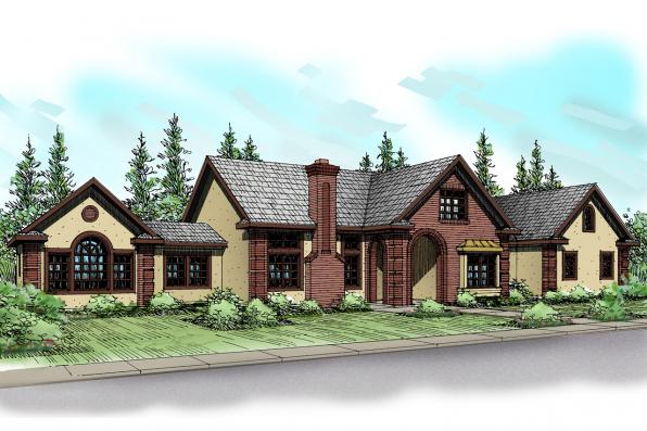 Southwest House Plan - Noranda 30-123 - Front Elevation