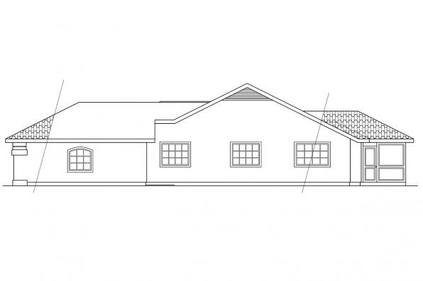Southwest House Plan - Quincy 11-017 - Left Elevation