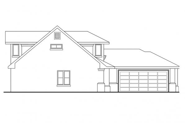 Southwest House Plan - Rosebery 30-162 - Right Elevation