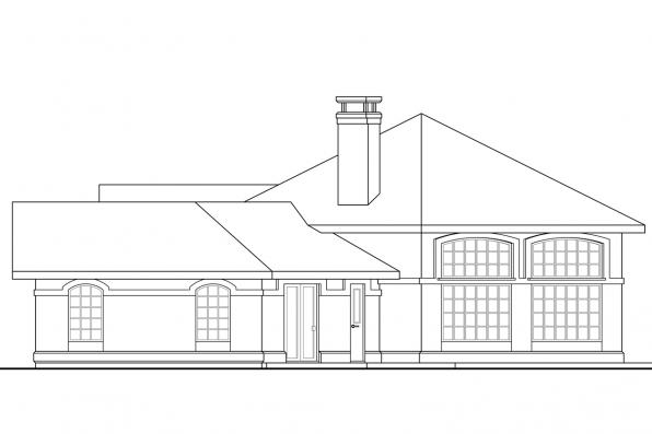 Southwest House Plan - Santa Ana 11-148 - Left Elevation