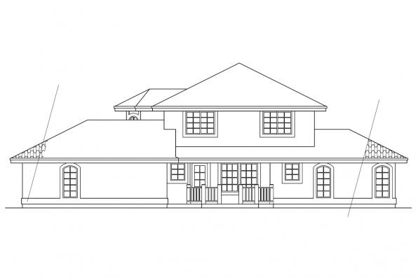 Southwest House Plan - Sequoia 11-013 - Left Elevation