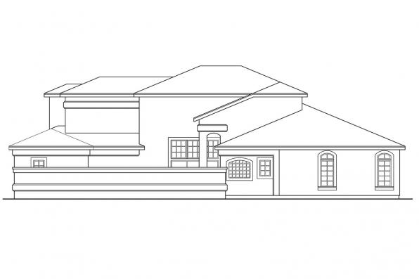 Spanish Style House Plan - Coronado 11-029 - Left Elevation