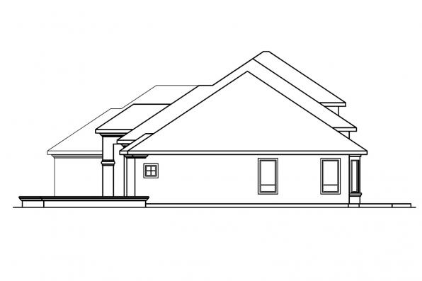 Spanish House Plan - Corsica 30-443 - Left Elevation