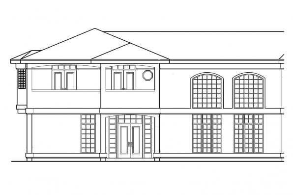 Spanish Style House Plan - Veracruz 11-118 - Right Elevation