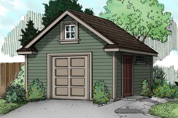 Storage Shed Plan 20-031 - Front Elevation