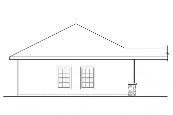 Three Car Garage Plan 20-009 - Right Elevation