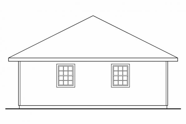 Three Car Garage Plan 20-029 - Right Elevation