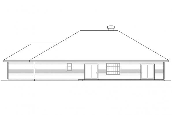 Traditional Home Plan - Clarkston 30-080 - Rear Elevation