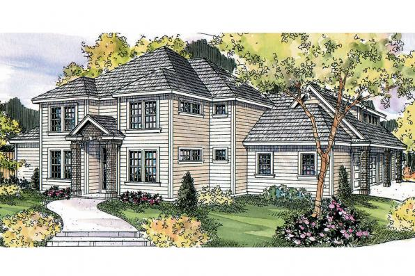 Traditional House Plan - Fairbanks 30-648 - Front Elevation