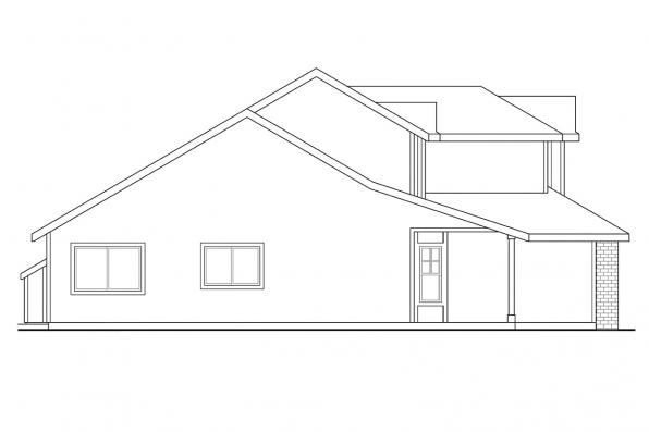 Traditional Home Plan - Selkirk 30-119 - Right Elevation