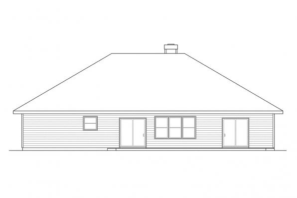 Traditional Home Plan - Syracuse 30-063 - Rear Elevation