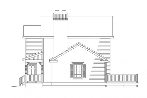 Traditional House Plan - Abbot 10-075 - Left Elevation