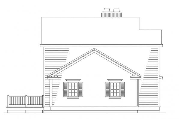 Traditional House Plan - Abbot 10-075 - Right Elevation