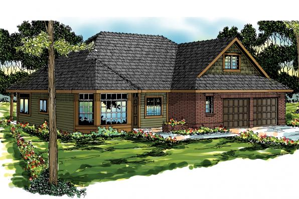 Traditional House Plan - Albany 30-047 - Front Elevation