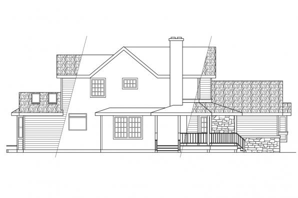 Traditional House Plan - Allegheny 10-204 - Right Elevation
