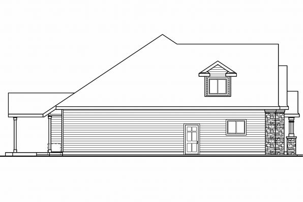 Traditional House Plan - Allison 30-608 - Right Elevation