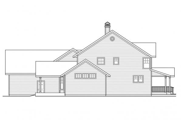 Traditional House Plan - Ambrosia 30-752 - Right Elevation