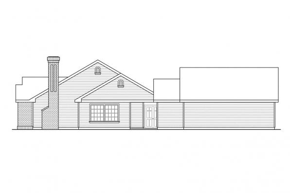 Traditional House Plan - Ardella 30-785 - Left Elevation