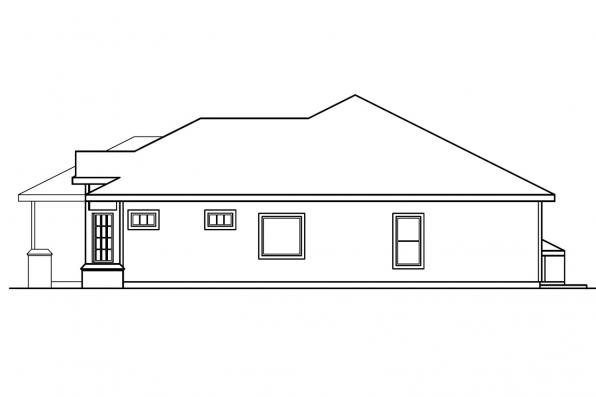 Traditional House Plan - Arvada 30-261 - Left Elevation