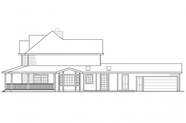 Traditional House Plan - Atkinson 30-060 - Left Elevation
