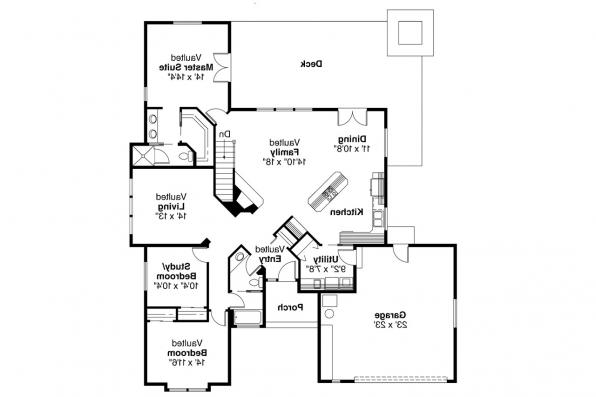 Small House Plan - Austin 10-051 - Floor Plan
