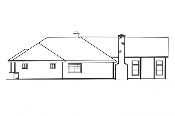 Traditional House Plan - Bellewood 30-292 - Left Elevation
