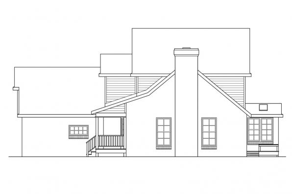 Traditional House Plan - Birmingham 10-206 - Left Elevation