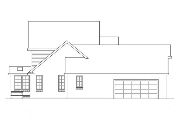 Traditional House Plan - Birmingham 10-206 - Right Elevation