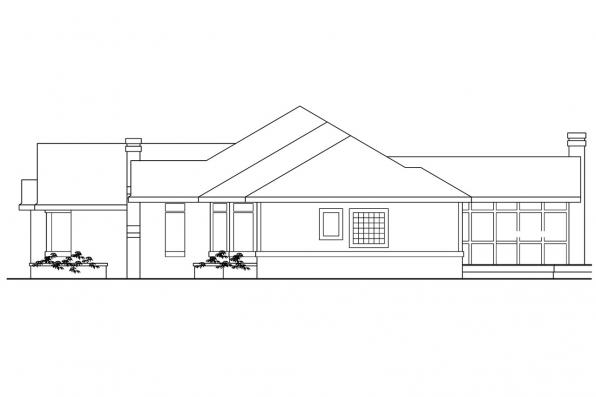 Traditional House Plan - Bridgewater 10-253 - Left Elevation