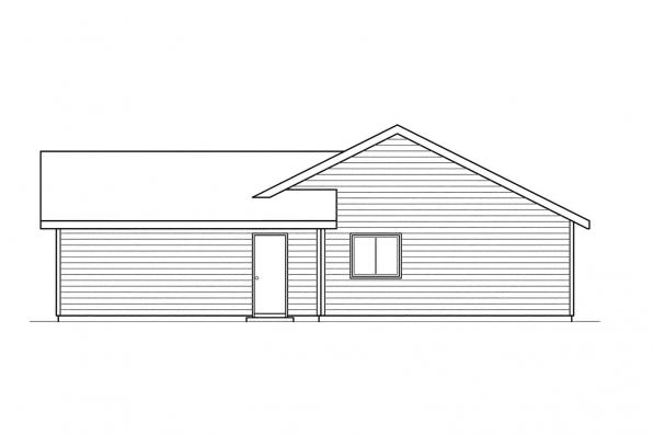 Traditional House Plan - Burnett 30-061 - Left Elevation