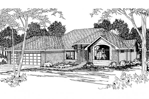 Traditional House Plan - Camden 30-051 - Front Elevation