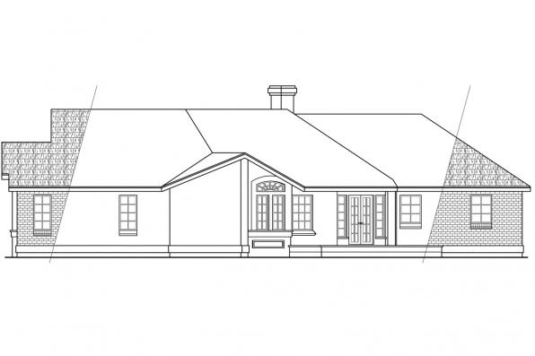 Traditional House Plan - Camrose 10-007 - Left Elevation