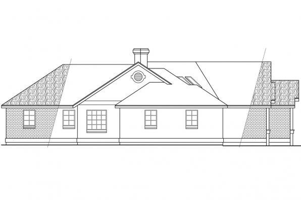 Traditional House Plan - Camrose 10-007 - Right Elevation