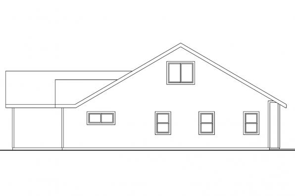 Traditional House Plan - Carter 30-531 - Left Elevation