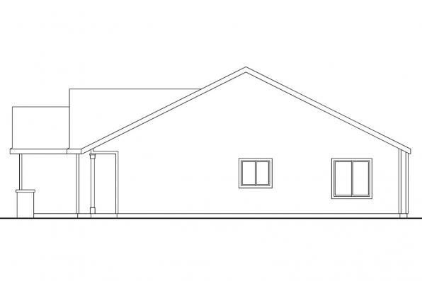 Traditional House Plan - Chapman 30-544 - Left Elevation