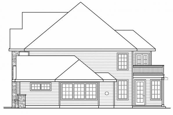Traditional House Plan - Charlottesville 30-650 - Left Elevation