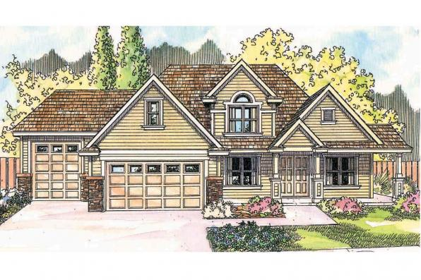 Traditional House Plan - Claredon 30-564 - Front Elevation